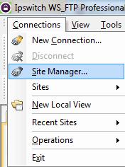 Ga naar de Site Manager